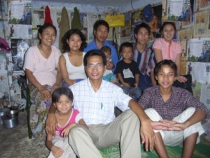Falam family in small living space